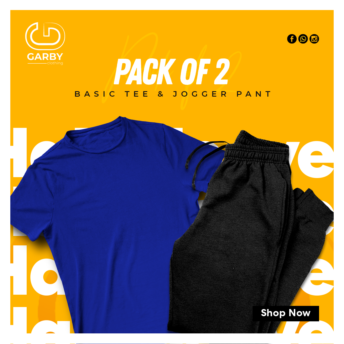 Pack of the 2 tees