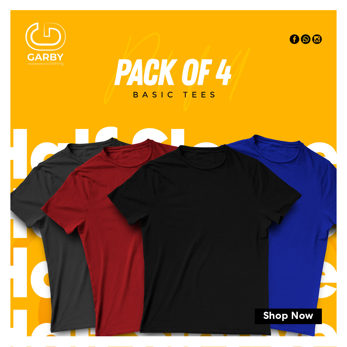 Pack-of-the-4-tees