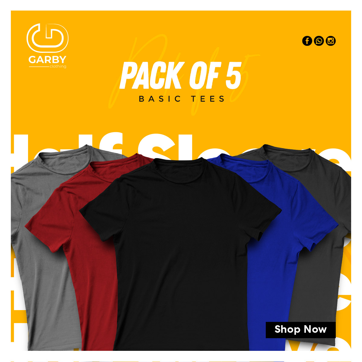 Pack-of-the-5-tees